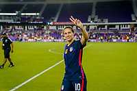 ORLANDO, FL - MARCH 05: Carli Lloyd #10 of the United States waves to the fans during a game between England and USWNT at Exploria Stadium on March 05, 2020 in Orlando, Florida.