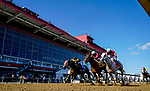October 3, 2020: Laki #4, ridden by jockey Horacio Karamanios, wins the Frank J. DeFrancis Memorial Dash during Preakness Stakes Day at Pimlico Race Course in Baltimore, Maryland. Scott Serio/Eclipse Sportswire/CSM