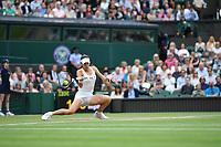 9th July 2021, Wimbledon, SW London, England; Wimbledon Tennis Championships, day 9;  Ajla Tomljanovic (Aus)