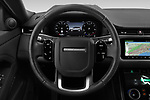 Car pictures of steering wheel view of a 2020 Land Rover Range-Rover-Evoque SE 5 Door SUV Steering Wheel