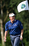 HAIKOU, CHINA - OCTOBER 29:  Colin Montgomerie of Scotland smiles on the 13th green during day three of the Mission Hills Start Trophy tournament at Mission Hills Resort on October 29, 2010 in Haikou, China. The Mission Hills Star Trophy is Asia's leading leisure liflestyle event which features Hollywood celebrities and international golf stars.  Photo by Victor Fraile / The Power of Sport Images
