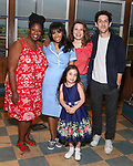 NaTasha Yvette Williams, Nicolette Robinson, Katie Lowes, Adam Shapiro, Mariam Bedigian backstage after Nicolette Robinson makes her Broadway debut in 'Waitress' on September 4, 2081 at the Brooks Atkinson Theatre in New York City.