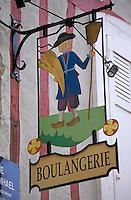 Europe/France/Bretagne/56/Morbihan/Vannes: Détail d'une enseigne de boulangerie