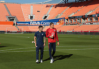 Houston, TX - Tuesday March 26, 2019: The men's national teams of the United States (USA) and Chile (CHI) play in an international friendly match at BBVA Compass Stadium.