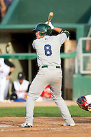 Renato Nunez (8) of the Beloit Snappers at bat against the Lansing Lugnuts at Cooley Law School Stadium on May 5, 2013 in Lansing, Michigan.  The Lugnuts defeated the Snappers 5-4.  (Brian Westerholt/Four Seam Images)