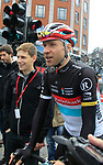 Jens Voigt (GER) Radioshack-Nissan makes his way to sign on before the start of the 98th edition of Liege-Bastogne-Liege outside the Palais des Princes-Eveques, running 257.5km from Liege to Ans, Belgium. 22nd April 2012.  <br /> (Photo by Eoin Clarke/NEWSFILE).