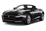 2017 Jaguar F-TYPE - 2 Door Convertible Angular Front stock photos of front three quarter view