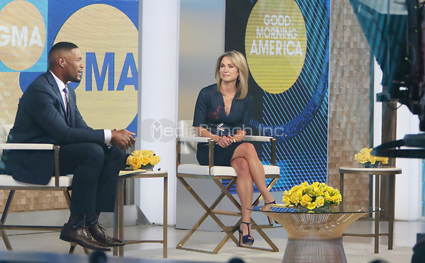 Aprl 06, 2021. Michael Strahan,  Amy Robach at Good Morning America in New York April 06, 2021 Credit:RW/MediaPunch