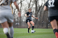 LOUISVILLE, KY - MARCH 13: Nealy Martin #36 of Racing Louisville FC passes the ball during a game between West Virginia University and Racing Louisville FC at Thurman Hutchins Park on March 13, 2021 in Louisville, Kentucky.