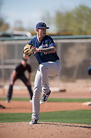 Milwaukee Brewers relief pitcher Austin Rubick (83) during a Minor League Spring Training game against the Colorado Rockies at Salt River Fields at Talking Stick on March 17, 2018 in Scottsdale, Arizona. (Zachary Lucy/Four Seam Images)