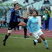 Siviglia Atalanta Lopez Lazio<br /> Calcio 2002/2003<br /> Foto Andrea Staccioli/Insidefoto