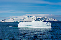 Antarctica expedition aboard the Hurtigruten FRAM ship. Ice at Half Moon Island.