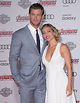 "Elsa Pataky and Chris Hemsworth attends The World Premiere of Marvel's ""Avengers"" Age of Ultron,"" held at The Dolby Theatre in Hollywood, California on April 13,2015                                                                               © 2014 Hollywood Press Agency"