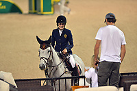 WELLINGTION, FL - APRIL 02: SATURDAY NIGHT LIGHTS: $500,000 ROLEX GRAND PRIX CSI5. The Winter Equestrian Festival (WEF) is the largest, longest running hunter/jumper equestrian event in the world held at the Palm Beach International Equestrian Center. Jessica Rae Springsteen (born December 30, 1991) is an American show jumping champion rider who has represented the United States in the Show Jumping World Cup and the 2012 FEI Nations Cup.Jessica is the second child and only daughter of Bruce Springsteen and Patti Scialfa on April 2, 2016  in Wellington, Florida.<br /> <br /> <br /> People:  Jessica Springsteen, Nic Rodan