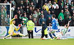 St Johnstone v Celtic...07.05.14    SPFL<br /> Michael O'Halloran fires the ball over the bar<br /> Picture by Graeme Hart.<br /> Copyright Perthshire Picture Agency<br /> Tel: 01738 623350  Mobile: 07990 594431