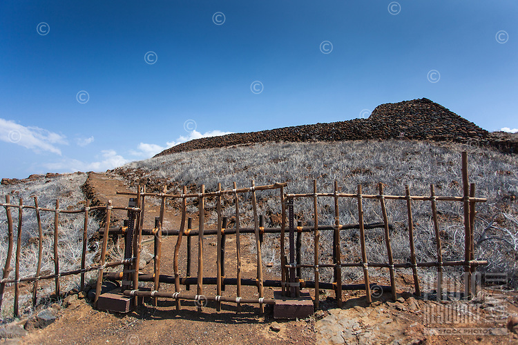 A gate at Pu'ukohola Heiau on the Big Island.