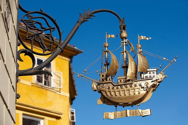The Golden Ship Sign created by Bandi Schima 1938 - ( Gy?r )  Gyor Hungary