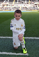 Saturday 2nd March 2013<br /> Pictured: Children mascots.<br /> Re: Barclays Premier Leaguel, Swansea  v Newcastle at the Liberty Stadium in Swansea.
