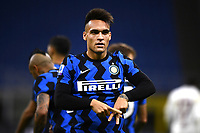 Lautaro Martinez of FC Internazionale celebrates after scoring the goal of 4-2 during the Serie A football match between FC Internazionale and Torino FC at stadio San Siro in Milano (Italy), November 22th, 2020. Photo Image Sport / Insidefoto