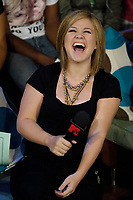 """Toronto (ON), August 20, 2007 - Pop sensation Kelly Clarkson on """"MTV Live"""" for a special taping on Monday, August 20 at The Masonic Temple."""