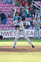 July 7, 2009: Tri-City Dust Devils' Scott Beerer at-bat during a Northwest League game against the Salem-Keizer Volcanoes at Volcanoes Stadium in Salem, Oregon.