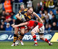 Photo: Richard Lane/Richard Lane Photography. London Welsh v Wasps. Aviva Premiership. 12/04/2015. Wasps' Andy Goode  attacks.