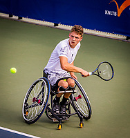 Amstelveen, Netherlands, 19 Augustus, 2020, National Tennis Center, NTC, NKR, National  Wheelchair Tennis Championships, Men's single: Ruben Spaargaren (NED)<br /> Photo: Henk Koster/tennisimages.com