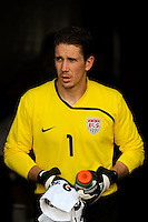 United States (USA) goalkeeper Troy Perkins (1) comes on to the field for the second half. Mexico (MEX) defeated the United States (USA) 5-0 during the finals of the CONCACAF Gold Cup at Giants Stadium in East Rutherford, NJ, on July 26, 2009.