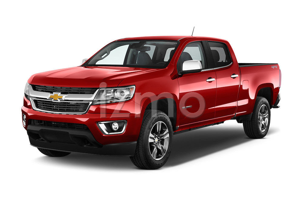 2017 Chevrolet Colorado LT Crew Cab Long Box 4 Door Truck Angular Front stock photos of front three quarter view