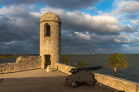 Historic Castillo San Marcos in late afternoon light, St. Augustine, Florida. <br /> Edition Size 200 Limited; 25 Artist Proof