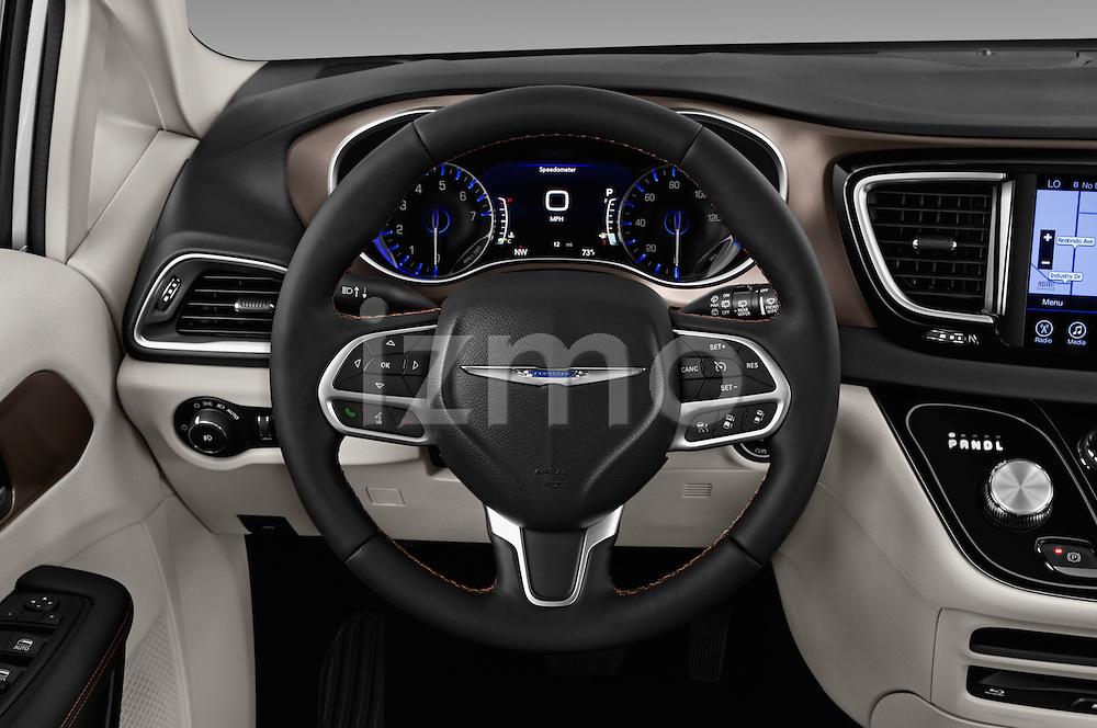 Car pictures of steering wheel view of a 2017 Chrysler Pacifica Touring-L-Plus 5 Door Minivan Steering Wheel