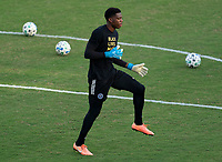 WASHINGTON, DC - SEPTEMBER 06: Sean Johnson #1 of New York City FC warms up before a game between New York City FC and D.C. United at Audi Field on September 06, 2020 in Washington, DC.