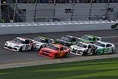 #20: Harrison Burton, Joe Gibbs Racing, Toyota Supra Dex Imaging and #1: Michael Annett, JR Motorsports, Chevrolet Camaro AHA/Pilot Flying J