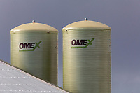 11.3.2021 Omex liquid fertiliser storage tanks on a farm in South Lincolnshire <br /> ©Tim Scrivener Photographer 07850 303986<br />      ....Covering Agriculture In The UK....