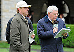Announcer Mike Battaglia during Blue Grass Stakes Day on April 16, 2011 at Keeneland in Lexington, Kentucky.  (Bob Mayberger/Eclipse Sportswire)