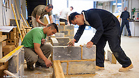 Gurkhas, leaving the British army, on a training course to work in the construction industry, Able Skills, Dartford, Kent.