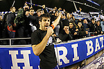 Deportivo Alaves' captain Manu Garcia celebrates with the supporters the victory in the Spanish Kings Cup semifinal. February 08,2017. (ALTERPHOTOS/Acero)