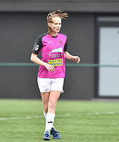 Aalst's Loes Van Mullem pictured during a female soccer game between Club Brugge Dames YLA and Eendracht Aalst Ladies on the 9 th matchday of the 2020 - 2021 season of Belgian Scooore Womens Super League , saturday 12 December 2020  in Brugge , Belgium . PHOTO SPORTPIX.BE | SPP | DAVID CATRY