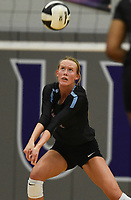 Southside Toree Tiffee (4) digs, Thursday, September 10, 2020 during a volleyball game at Fayetteville High School in Fayetteville. Check out nwaonline.com/200911Daily/ for today's photo gallery. <br /> (NWA Democrat-Gazette/Charlie Kaijo)