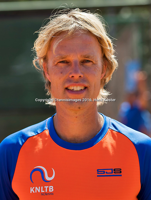 Moscow, Russia, 17 th July, 2016, Tennis,  Davis Cup Russia-Netherlands, Junior coach Eddy Bank  (NED)<br /> Photo: Henk Koster/tennisimages.com