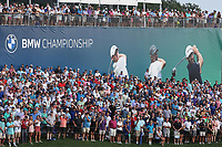 29th August 2021; Owens Mills, Maryland, USA;  Fans hang around to witness six playoff holes during the final round of the BMW Championship on August 29, 2021, at Caves Valley Golf Club in Owings Mills, MD.