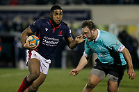 Lennox Anyanwu of London Scottish in action during the Greene King IPA Championship match between London Scottish Football Club and Nottingham Rugby at Richmond Athletic Ground, Richmond, United Kingdom on 7 February 2020. Photo by Carlton Myrie.