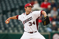 Jeremy heatley (34);March 9th, 2010; South Dakata State University vs Arkansas Razorbacks at Baum Stadium in Fayetteville Arkansas. Photo by: William Purnell/Four Seam Images