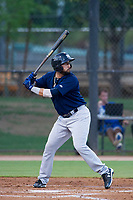 AZL Brewers second baseman Julian Jarrard (39) at bat against the AZL Dodgers on July 25, 2017 at Camelback Ranch in Glendale, Arizona. AZL Dodgers defeated the AZL Brewers 8-3. (Zachary Lucy/Four Seam Images)
