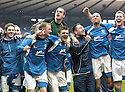 12/04/2008    Copyright Pic: James Stewart.File Name : sct_jspa29_qots_v_aberdeen.QUEEN OF THE SOUTH PLAYERS CELEBRATE AT THE END OF THE GAME...James Stewart Photo Agency 19 Carronlea Drive, Falkirk. FK2 8DN      Vat Reg No. 607 6932 25.Studio      : +44 (0)1324 611191 .Mobile      : +44 (0)7721 416997.E-mail  :  jim@jspa.co.uk.If you require further information then contact Jim Stewart on any of the numbers above........