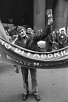 - Milano, dicembre 1975, gli operai delle Acciaierie Falck protestano davanti alla sede dell'azienda in corso Matteotti<br /> <br /> - Milan, December 1975, workers of Falck steel industry protest  in front of company headquarters in  Matteotti street