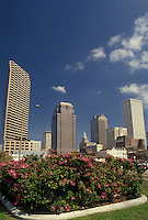 New Orleans, skyline, Louisiana, LA, Downtown skyline of New Orleans in the spring.