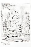 Seattle, Kuboda Gardens, Joel Rogers, Journal Art 2002, pen and ink on paper,