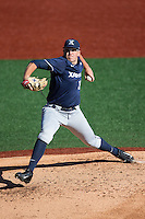 Xavier Musketeers starting pitcher Zac Lowther (34) in action against the Charlotte 49ers at Hayes Stadium on March 3, 2017 in Charlotte, North Carolina.  The 49ers defeated the Musketeers 2-1.  (Brian Westerholt/Four Seam Images)