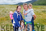 The Brady family from Killorglin enjoying the amenities in Rossbeigh beach on Monday.<br /> L to r: Aisling, Marieke, Laura, Dave and Conor Brady